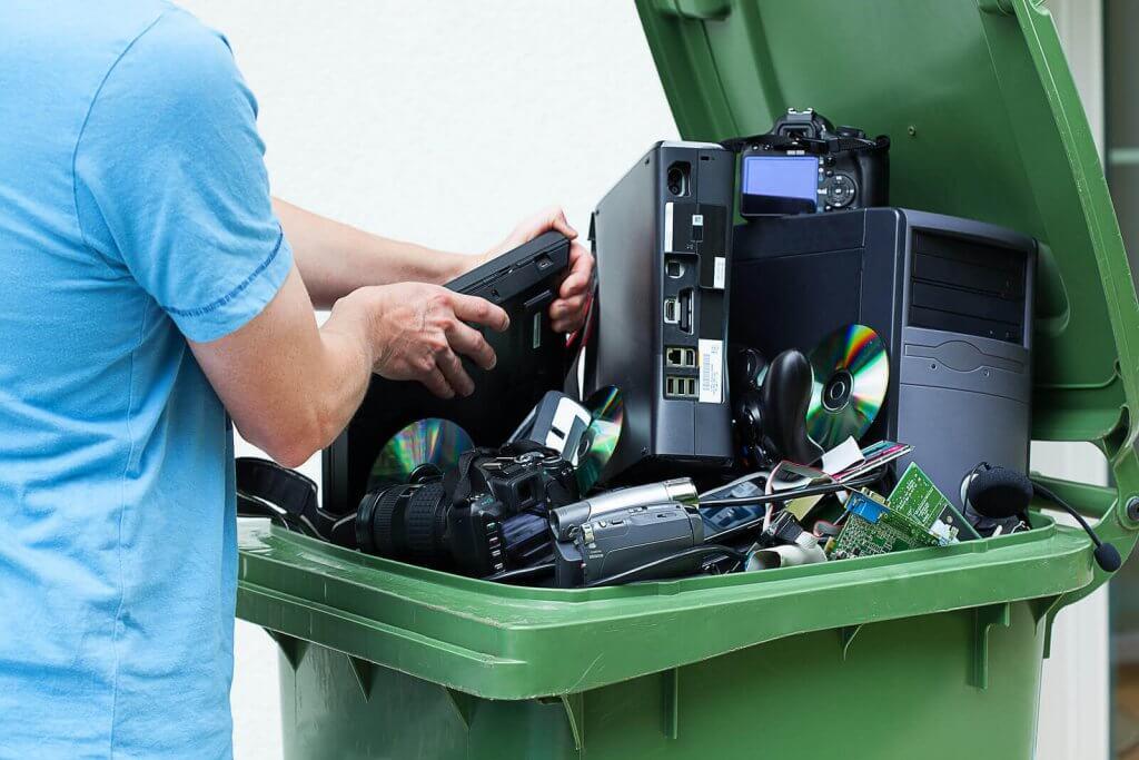discarding electronics