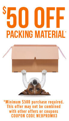 $50 Off Packing Material