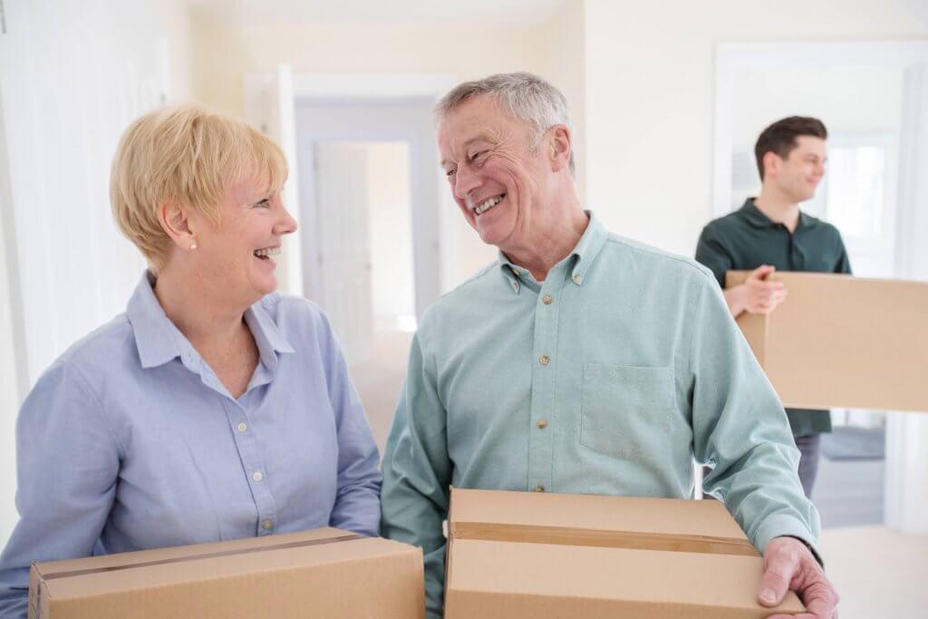 Senior Couple Moving